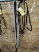 EAR BRIDLE W/ TWISTED WIRE SNAFFLE, EAR BRIDLE W/ D-RING SNAFFLE