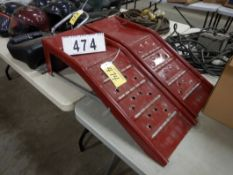 2-RED STEEL CAR RAMPS