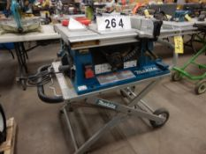 "MAKITA CONTRACTORS 10"" TABLE SAW W/MAKITA COLLAPSIBLE SAW STAND"