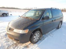 2003 HONDA ODYSEY MINI VAN S/N 2HKRL18013H015431, 333,711 KM SHOWING