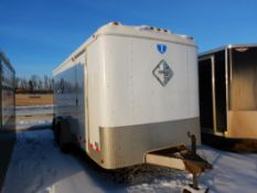 2009 INTERSTATE 16FT T/A ENCLOSED TRAILER W/MAN DOOR, REAR BARN DOORS, MODEL 1716TA2, S/N
