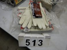 L/O BDG GRAIN LEATHER DRIVER GLOVES, SIZE S