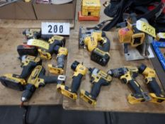 L/O DEWALT CORDLESS TOOLS, CHARGERS & BATTERIES, ETC