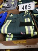 3-PR IFR GREEN SAFETY COVERALS, SIZE 38