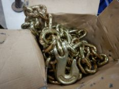 3/8X20FT SCHEDULE 70 CHAIN W/GRAB HOOKS - NEW IN BOX