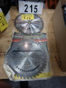 "2-PRESICION GROUND TUNGSTON CARBIDE 10"" SAW BLADES"