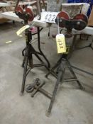 2-JACK 2000LB TELESCOPING PIPE WELDING STANDS W/ROLLER TOPS