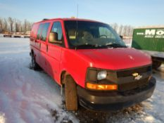 2004 CHEVORLET EXPRESS VAN W/STORAGE SHELVING IN BACK, S/N 1GCGG25V9412224204,8 L ENG, AT
