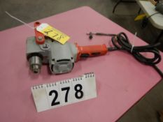 "MILWAUKEE 1/2"" HOLE HOG 90 DEGREE DRILL W/JACOBS CHUCK"