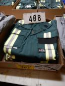 4-PR IFR GREEN SAFETY COVERALS, SIZE 38T