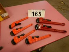"L/O RIDGID & SUPER EGO STEEL PIPE WRENCHES, 10"" & 14"""