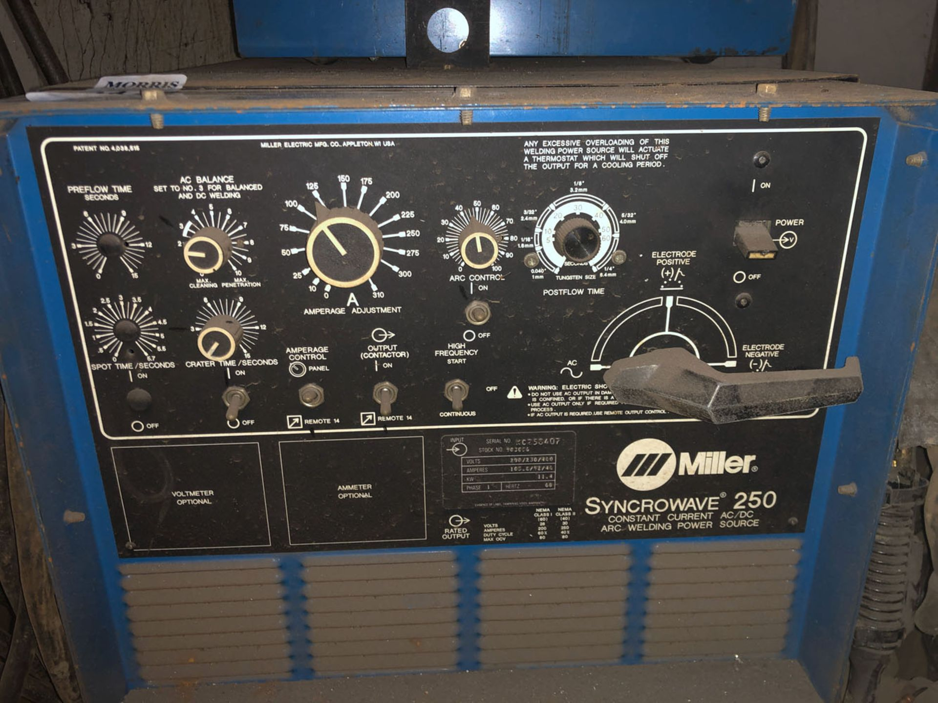 Lot 114 - Welder, Miller Syncrowave 25