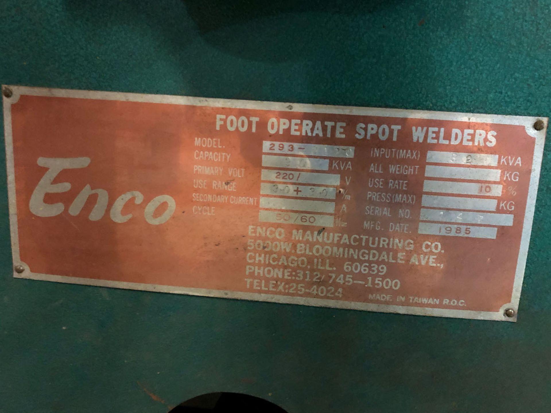 Lot 123 - Spot Welder, Enco Model 293-8170