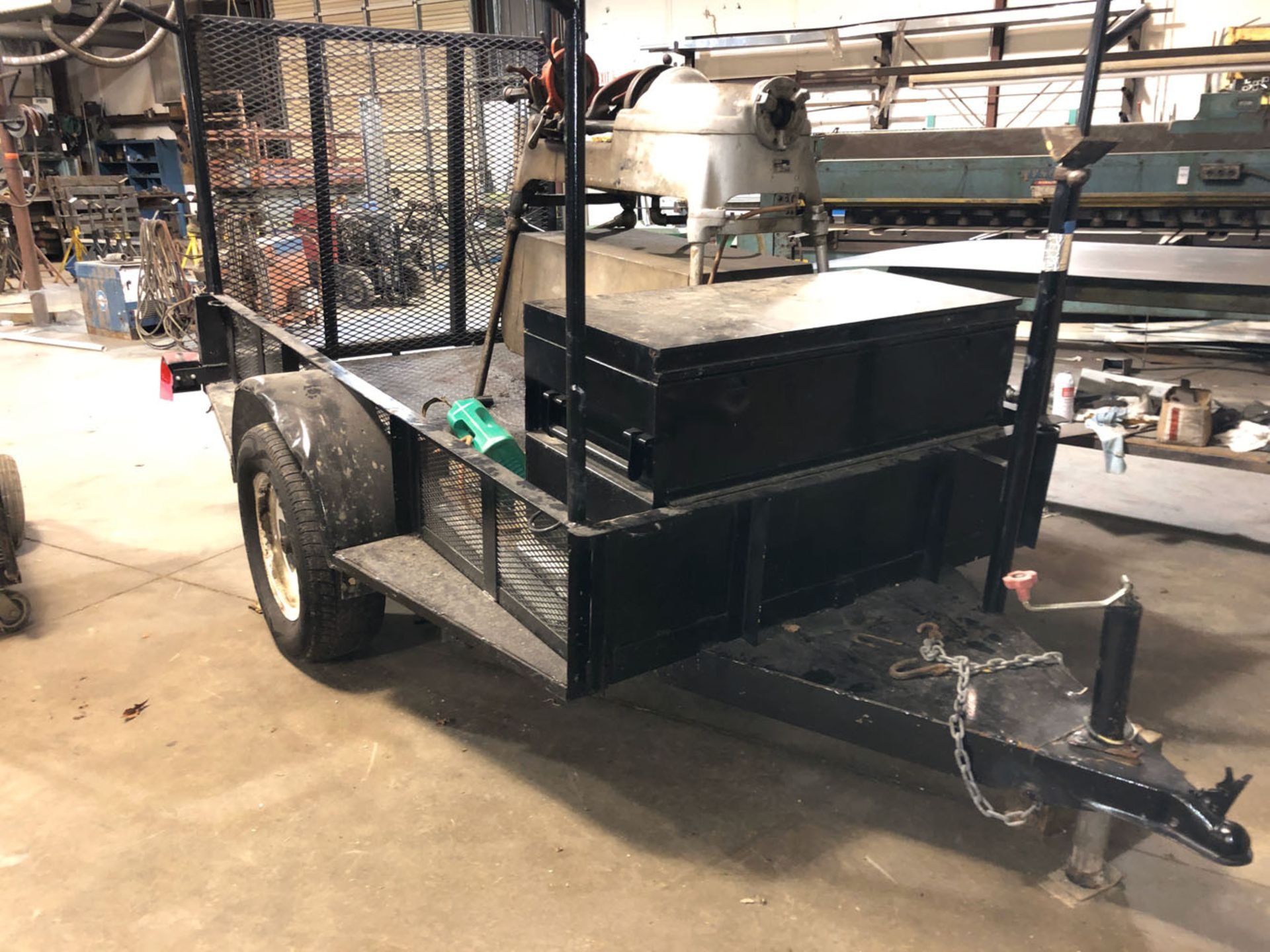 Lot 139 - Trailer, Single Axle, 5X8 with tool box