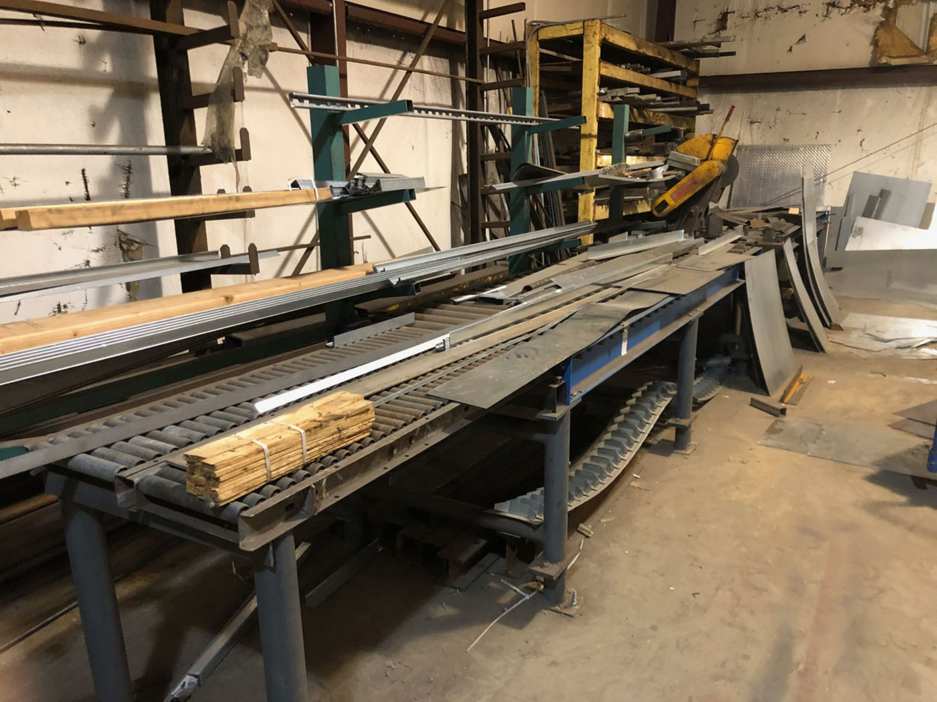 Lot 103 - Saw, Cut Off and Roller Table
