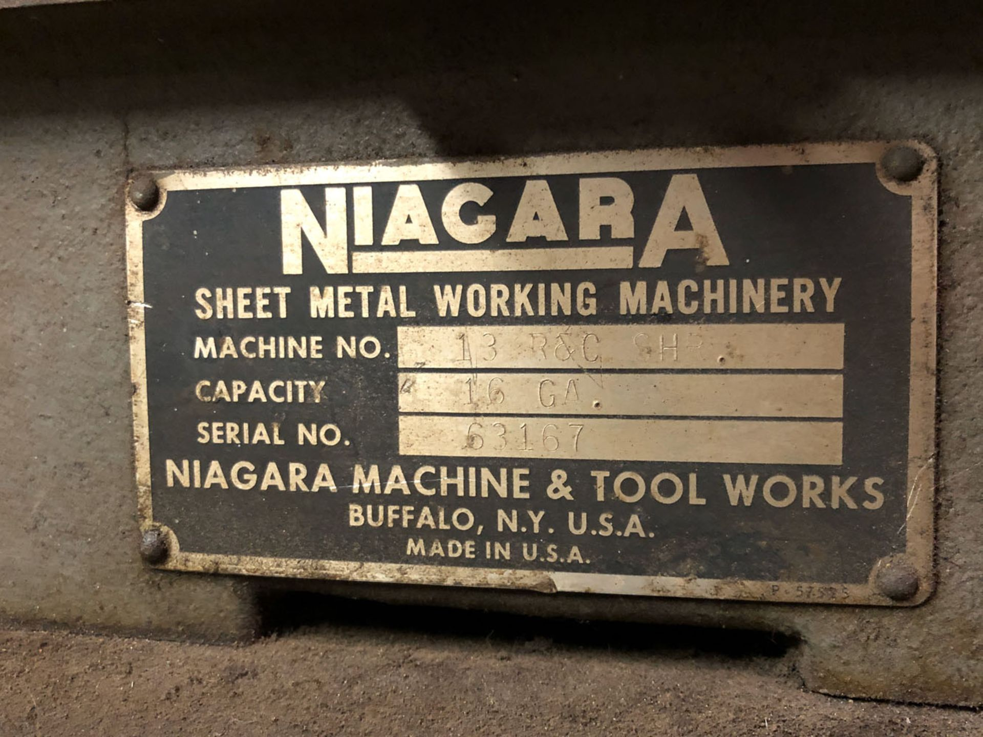 Lot 122 - Punch, Niagara 13 R&C SHR 16 ga. Ser.No. 63167