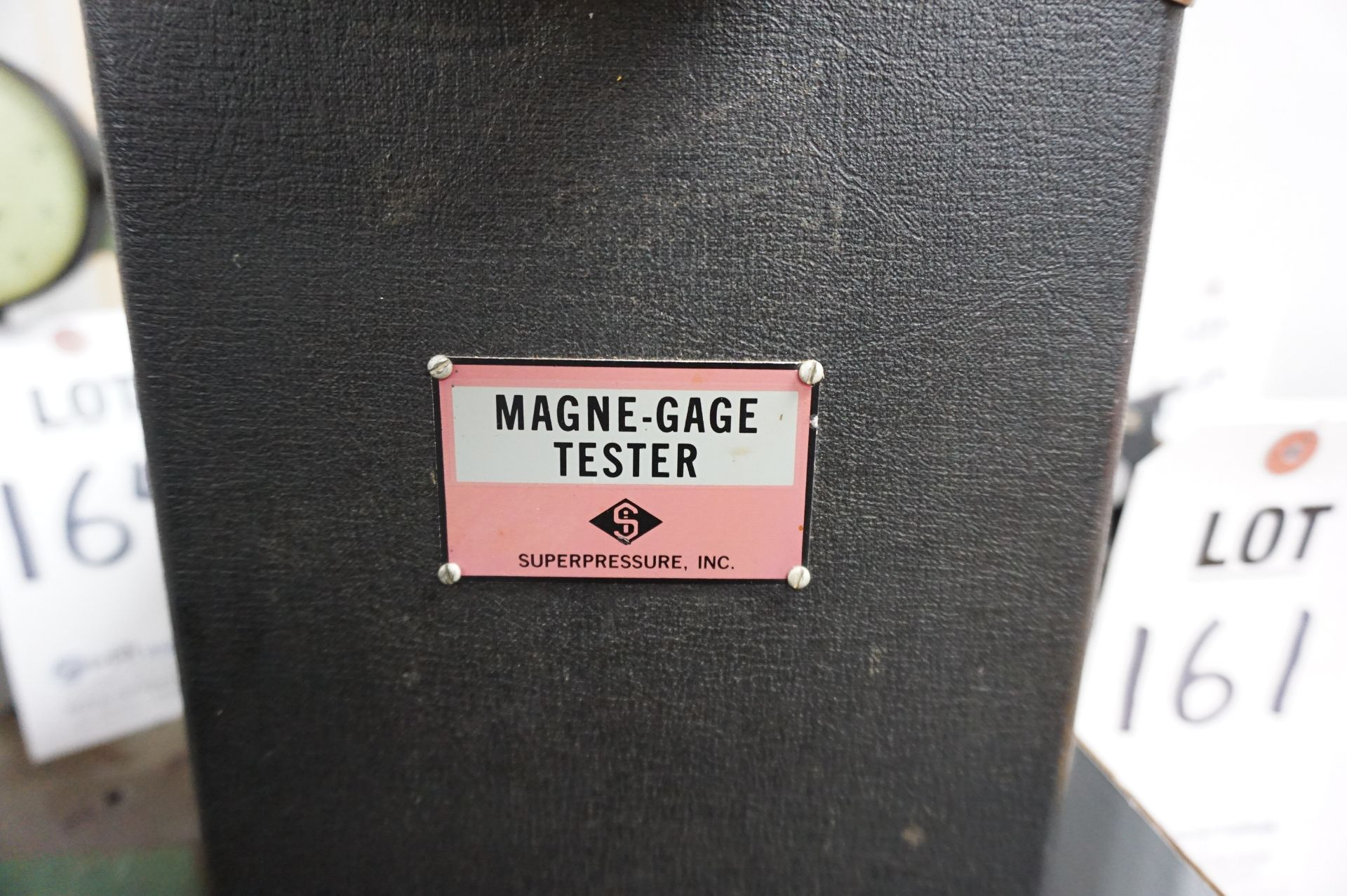 Lot 163 - SUPERPRESSURE INC. MAGNE-GAGE TESTER WITH CASE AND MANUALS