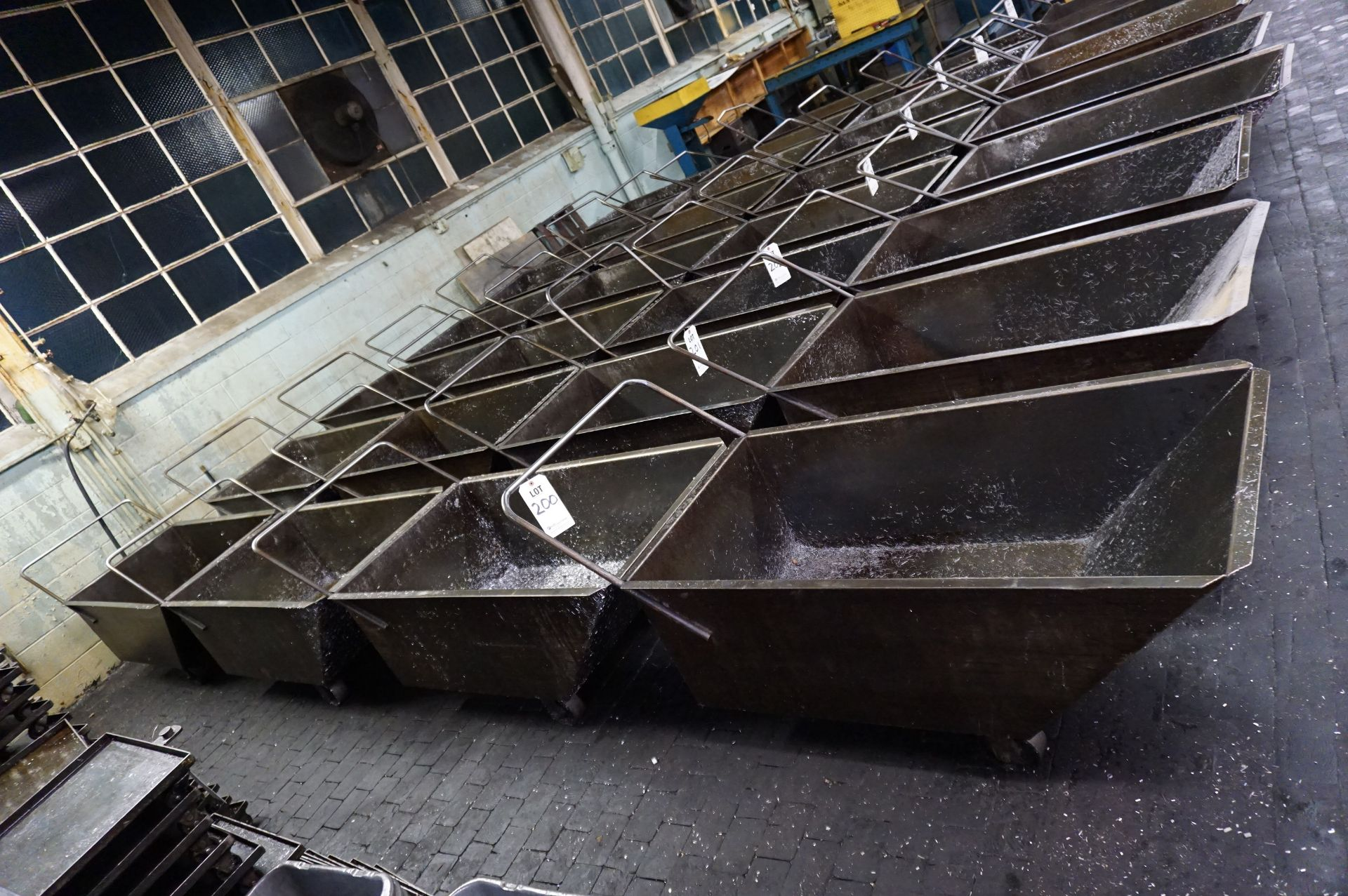 Lot 200 - (4) ROLLING CHIP BINS, 3 WHEEL