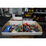 LOT TO INCLUDE: MISC. SCREWDRIVERS, NUTDRIVERS, TORX SCREWDRIVERS, KOBALT T-HANDLE HEX WRENCH SET,