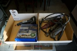 LOT TO INCLUDE: DREMEL MICRO WITH ACCESSORIES, MISC. ELECTRIC AND PNEUMATIC GRINDERS