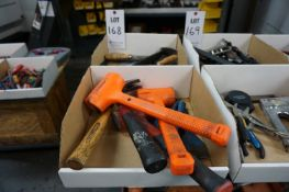 (2 BOXES) LOT TO INCLUDE: MISC. FILES, HAMMERS, CHISELS, AND PRY BAR