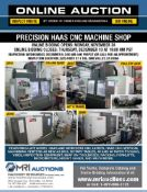FEATURING LATE MODEL HAAS AND MORI SEIKI CNC LATHES, HAAS CNC VMC AS NEW AS 2018, AND MORE!