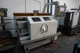 """2005 HAAS TL1 LATHE, S/N 72855, FULL ENCLOSURE, HAND WHEELS, TOOL POST, 6"""" CHUCK, AUGER, MISC."""
