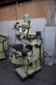 2006 ACER MANUAL VERTICAL MILLING MACHINE, MODEL EVS-3VK, S/N M6010010S11, NEWALL C80 2 AXIS DRO,