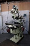 2000 ACER MANUAL VERTICAL MILLING MACHINE, MODEL EVS-3VKH, S/N M0080554, NEWALL C80 2 AXIS DRO,