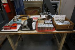 LOT TO INCLUDE: KITAGAWA B-210 LATHE CHUCK, PIE CHUCK JAWS, MISC. CHUCK JAWS, CHUCK AND DRAWBAR