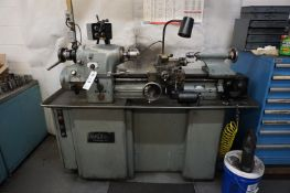 HARDINGE TOOL ROOM LATHE, MODEL HLV-H, HP 1.5, 220 V, CYCLES 60, 3 PHASE, DOVETAIL BED, WITH MANUALS