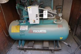 FSCURTIS 120 GALLON AIR COMPRESSOR, 24X68, S/N 1071GH1UP-D9D *LATE PICKUP*