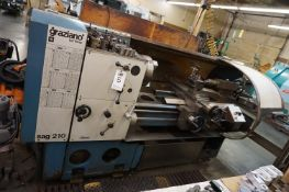 "GRAZIANO SAG 210 PRECISION ENGINE LATHE, S/N 96970, 17"" SWING WITH NATURAL GAP MAX. CAPABILITY 22 ¾"""