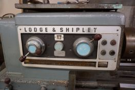 "1956 LODGE & SHIPLEY ENGINE LATHE, S/N 43123, 20 ½"" SWING WITH NATURAL GAP MAX. CAPABILITY OF 33"""