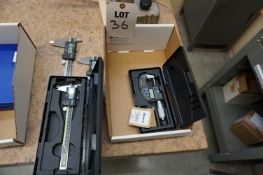 "LOT TO INCLUDE: (1) MITUTOYO ABSOLUTE DIGITAL MICROMETER (1) MITUTOYO 6"" ABSOLUTE DIGITAL"