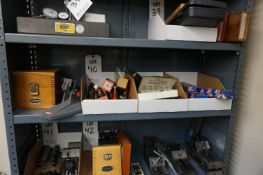 LOT TO INCLUDE BUT NOT LIMITED TO: MICROMETER VISE, CALIPERS, THREAD MEASURING WIRES, GAGE BLOCK