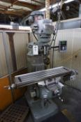 "1983 BRIDGEPORT VERTICAL MILLING MACHINE, S/N J202863, 9"" X 36"" TABLE WITH NEWALL C80 DRO"