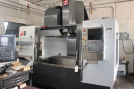2012 HAAS VF-3 SN 1100115 - 40 POCKET SIDE MOUNT TC, WIRELESS PROBING (WIPS), THRU SPINDLE