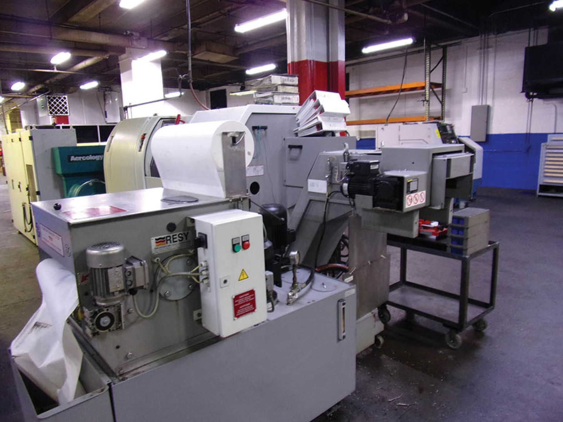 Lot 710 - 2006 TRAUB TNL-26 SWISS TYPE CNC SCREW MACHINE; TX-8I CONTROL, COLLET CHUCK, SUB SPINDLE, (2)