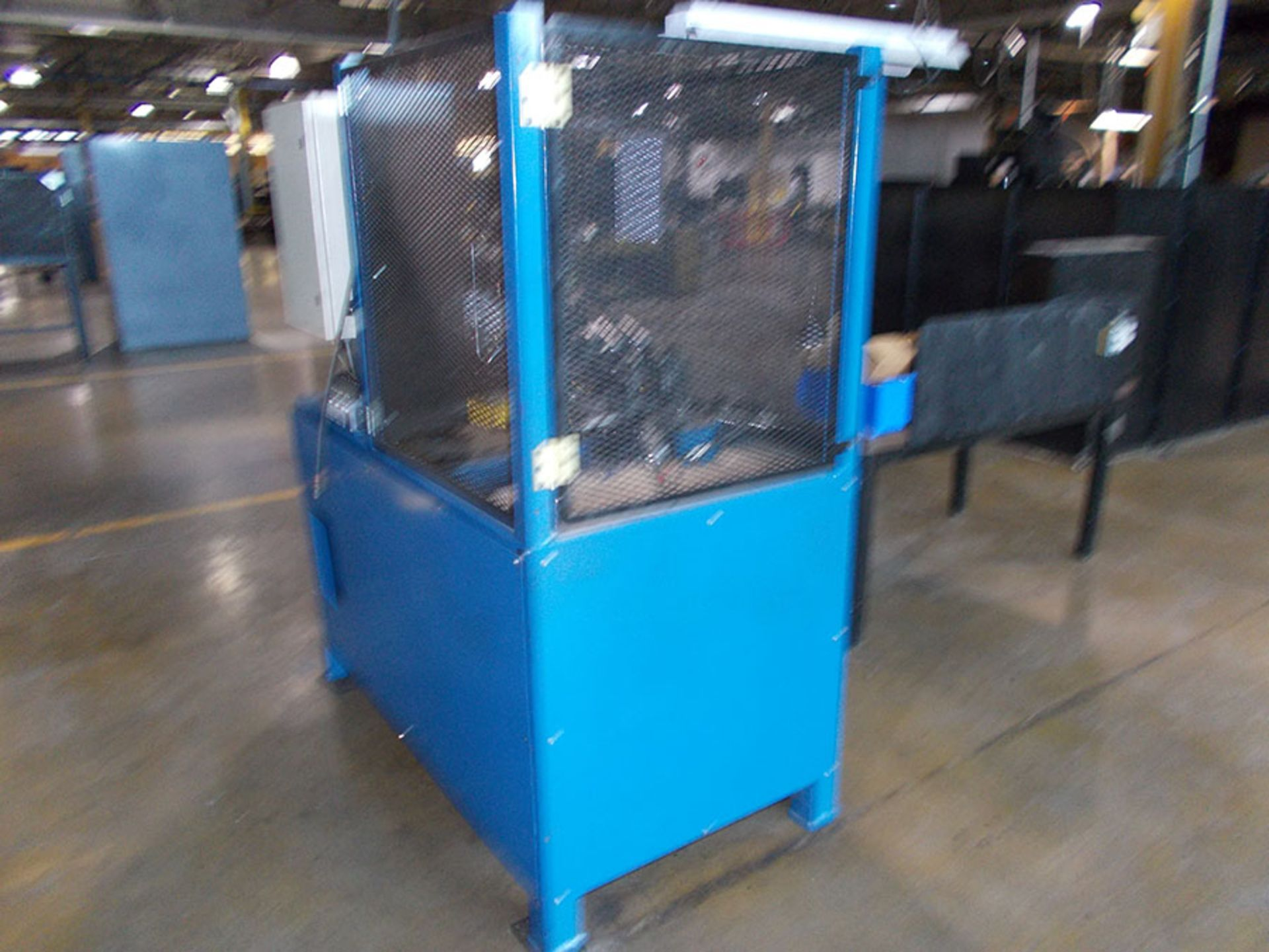 Lot 867 - INDUSTRIAL TOOL & DIE WIRE FORMING MACHINE; 120V, 62'' X 32'' TABLE WITH TOOLING & SPARE PARTS