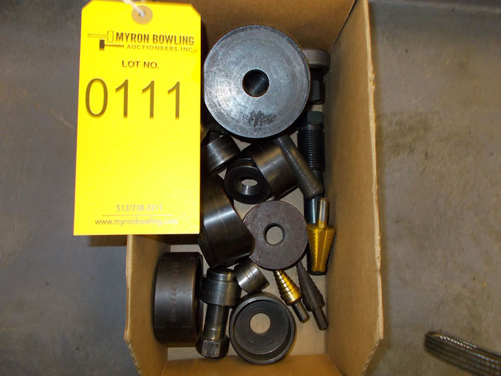 Lot 111 - BOX OF ASSORTED HOLE PUNCHES