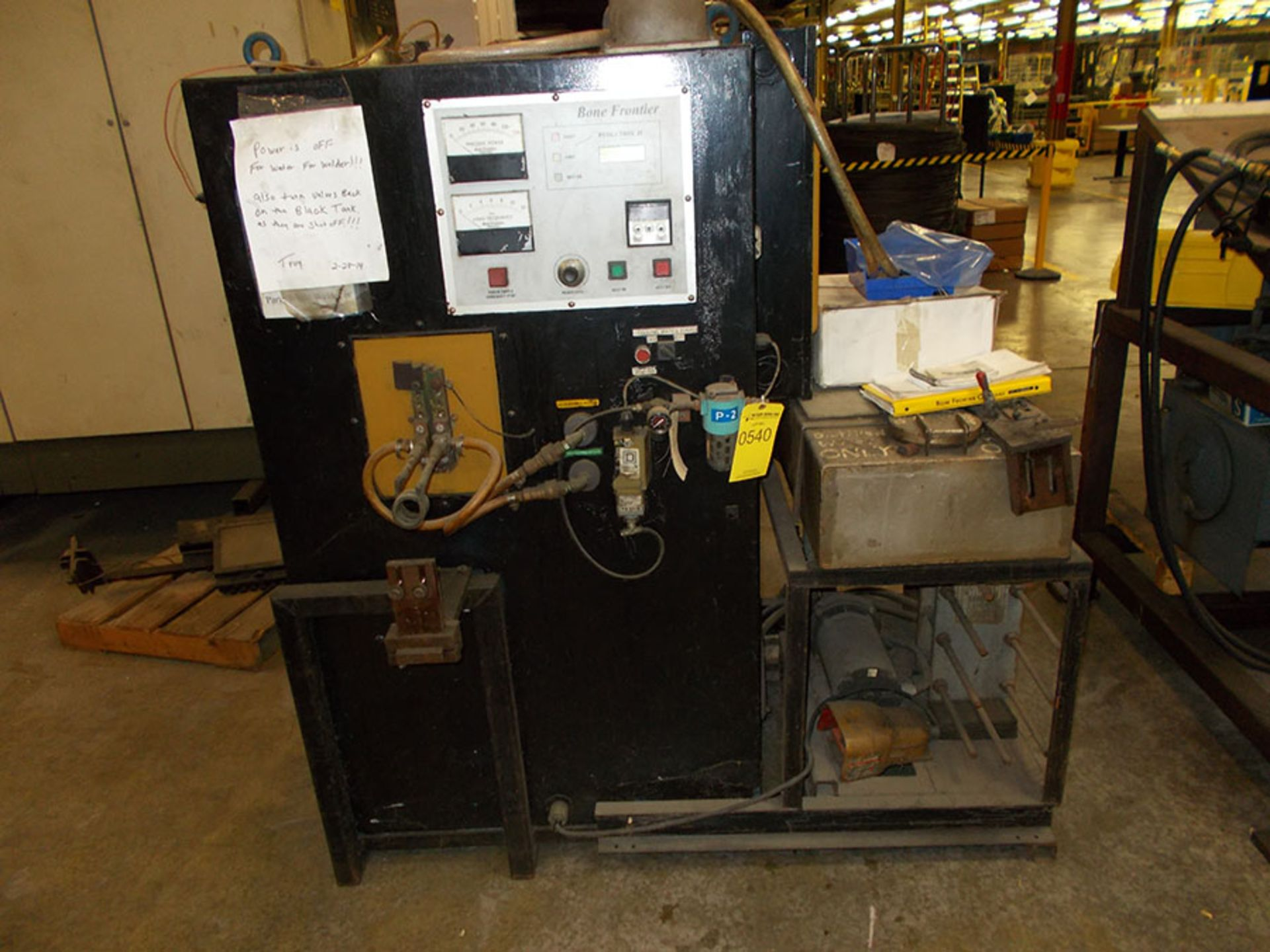 Lot 540 - BONE FRONTIER INDUCTION HEAT SYSTEM; S/N WM97011222, 240V, 3-PHASE
