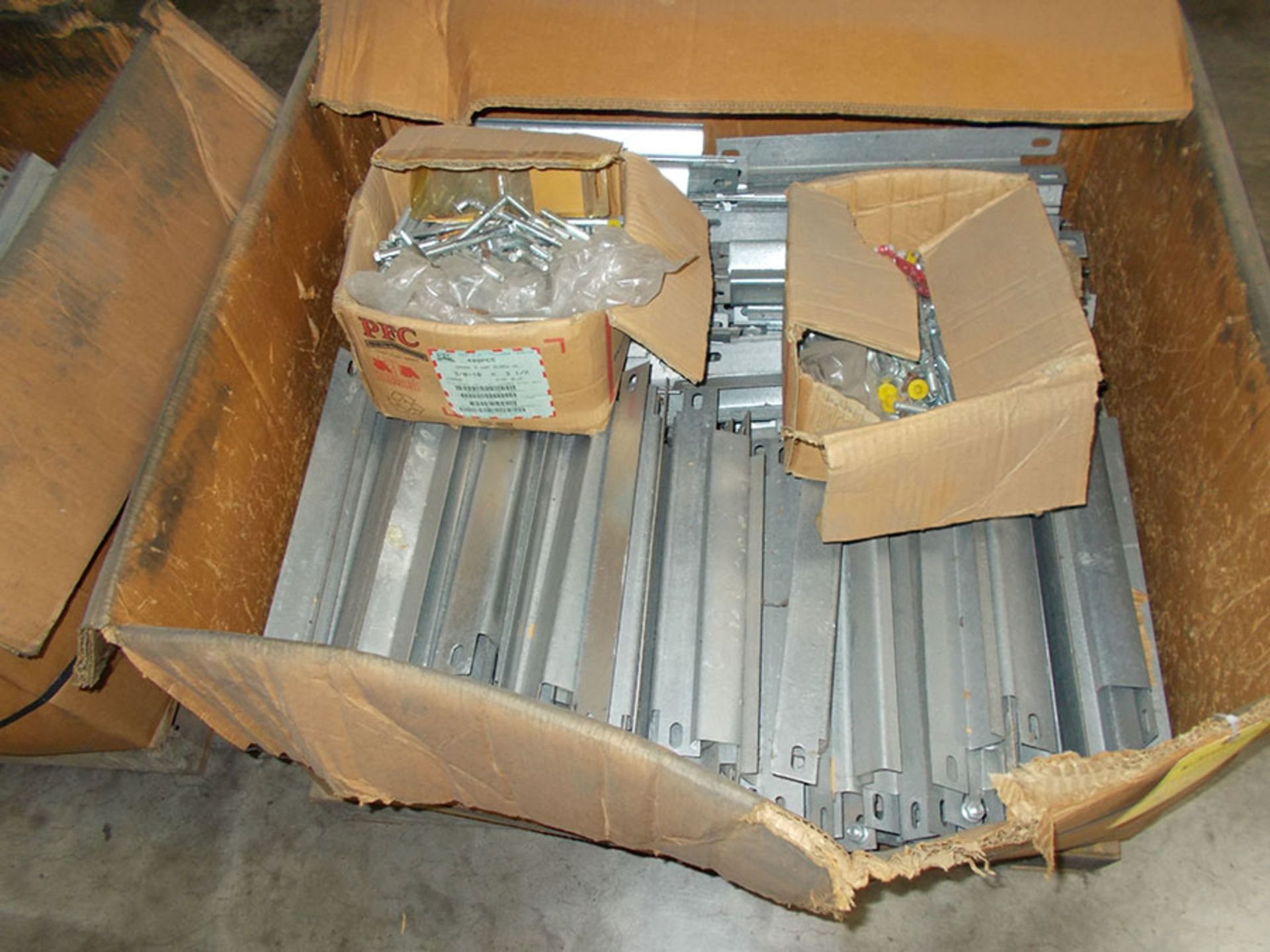 Lot 821 - (2) BOXES OF PALLET RACK 13'' SPACERS