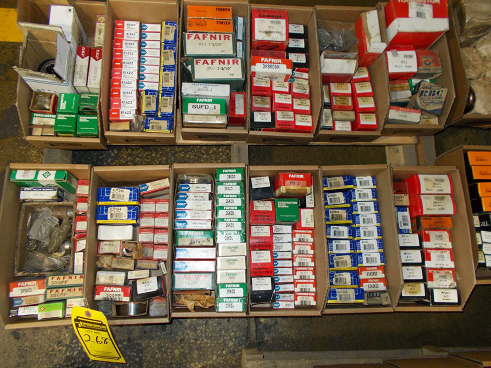 Lot 268 - (3) PALLETS OF ASSORTED BEARINGS