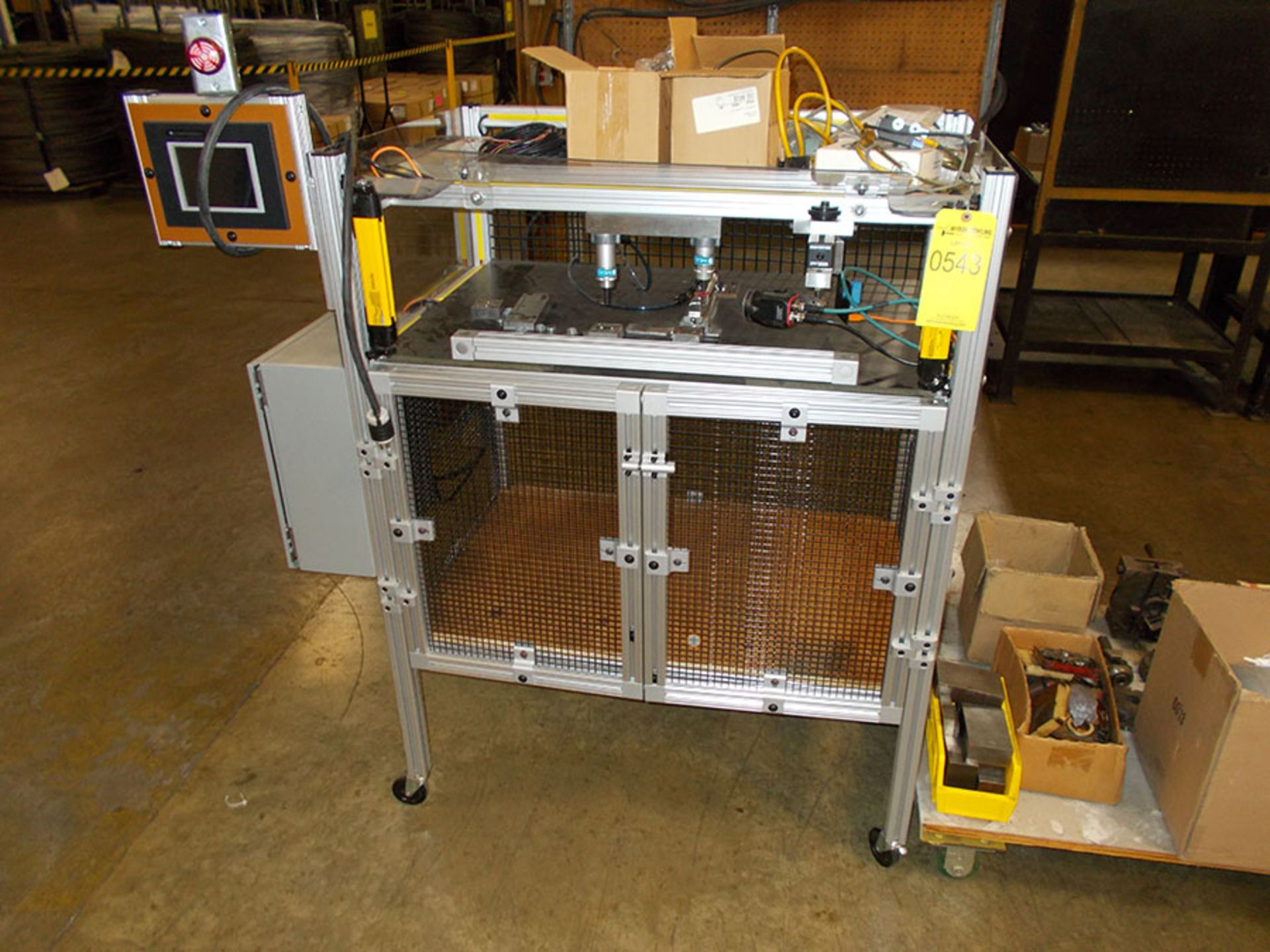 Lot 543 - CUSTOM BUILT PART TESTING MACHINE; 115V