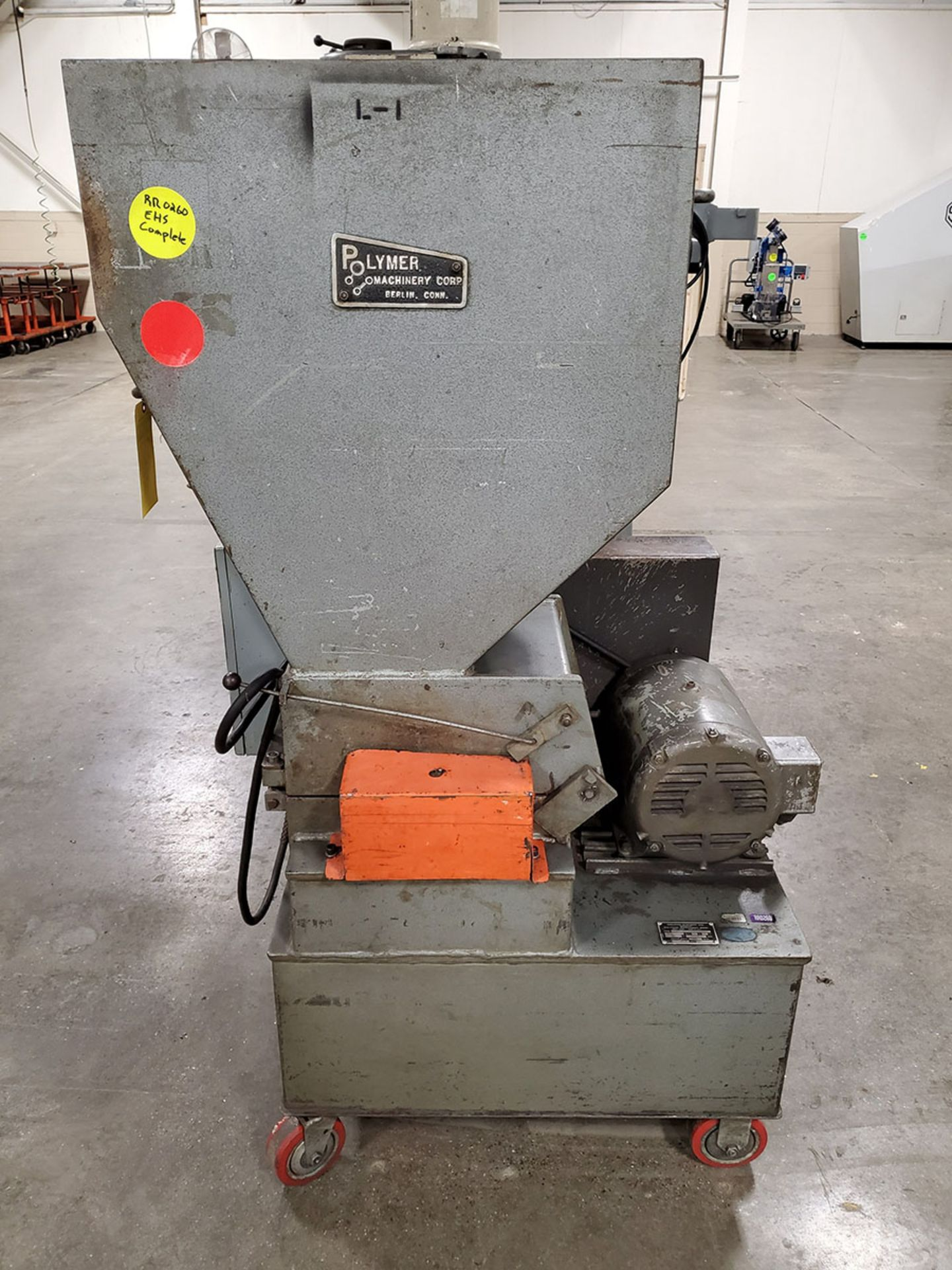 Lot 191 - POLYMER POLY GRINDER; MODEL 912SPL, S/N 91228779SPL, 3-PHASE, 10-HP