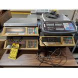 LOT OF (4) DIGITAL SCALES & TABLE