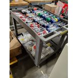ROLLING CART WITH ASSORTED G0/NO GO GAGES