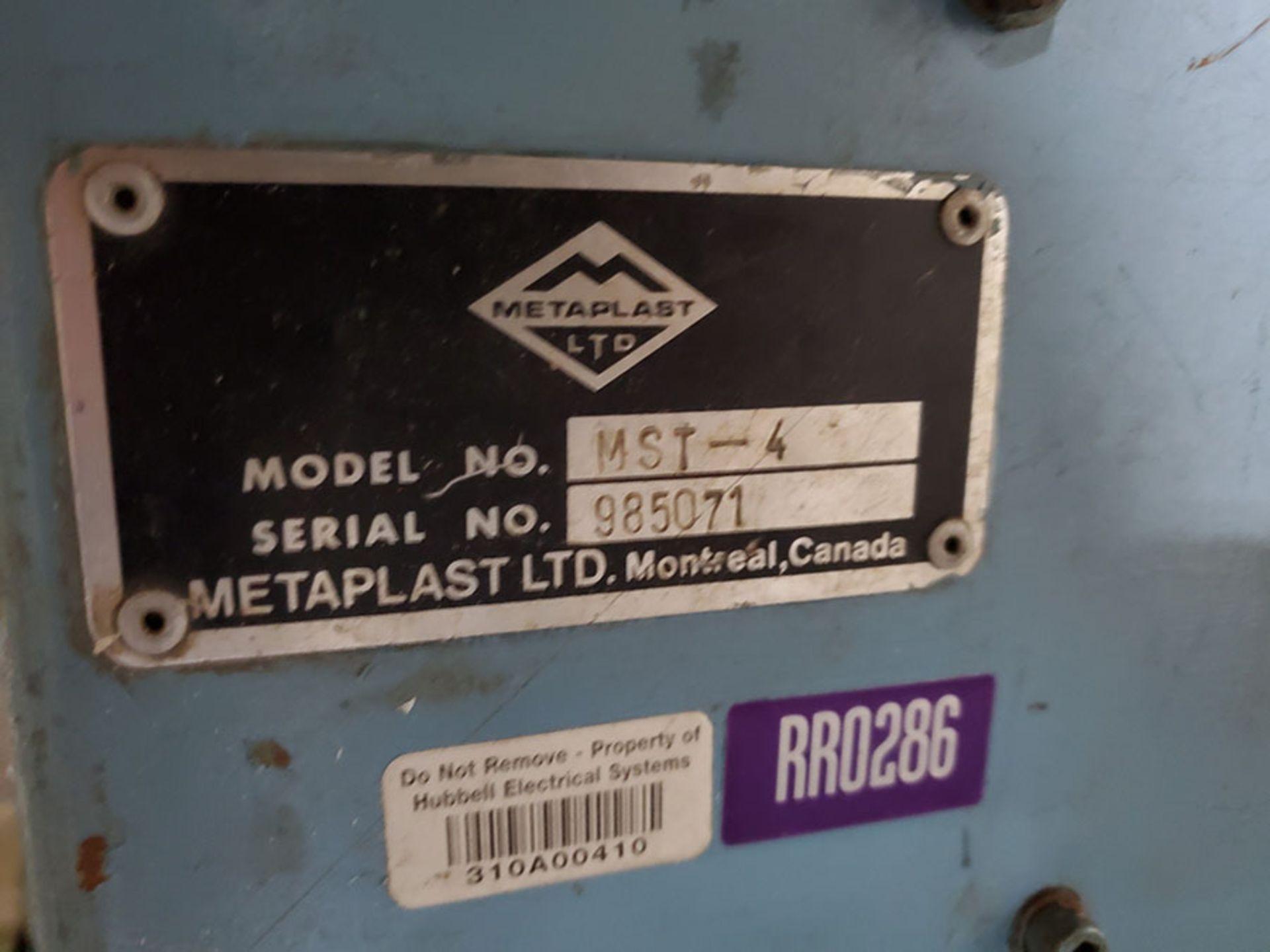 Lot 178 - METAPLAST SHEAR; MODEL MST-4, S/N 985071