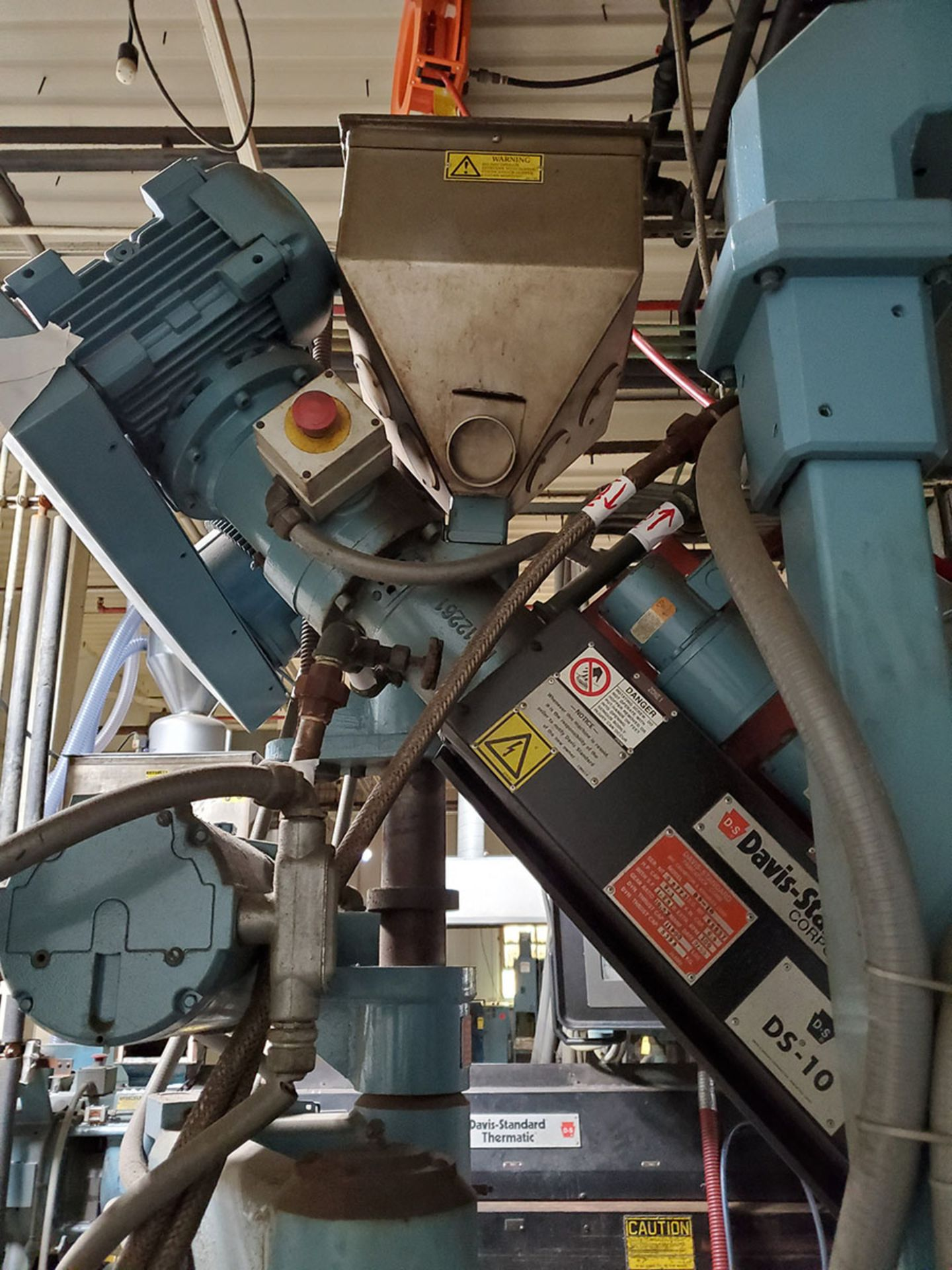 Lot 175 - DAVIS STANDARD THERMATIC PLASTIC CO-EXTRUDER; MODEL DS-10, S/N 0-5773